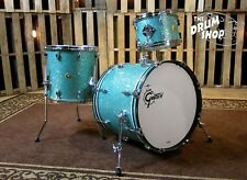 Grestch Brooklyn Series Drum Set Turquoise Glass Nitron Wrap