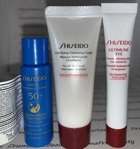 Shiseido Clarifying Cleansing Foam Ultimune Eye Concentrate Sun Lotion SPF50 Lot