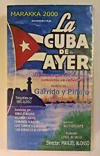 RARE VINTAGE VHS MOVIE PELICULA VHS LA CUBA DE AYER CON GARRIDO Y PIÑERO (C2)