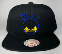 Mitchell and Ness NBA Golden State Warriors The Bridge Snapback Hat, New
