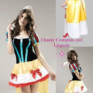 Snow White Princess Fairy Tale Halloween Costume Size 10-12