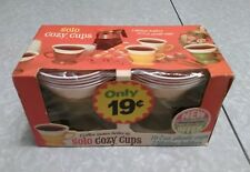 Vintage Solo Cozy Cups With Dora Hall Offer On Package. Avacado Green.