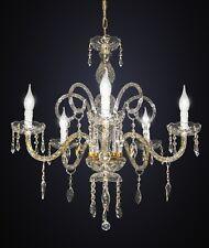 Lampadario classico 5 luci cristallo cromato salotto soggiorno DESIGN SWAROVSKY