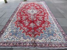 Old Traditional Hand Made Persian Oriental Wool Red Long Carpet Runner 428x223cm