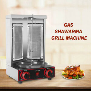 LPG Gas Doner Kebab Shawarma Grill Machine Tacos Al Pastor GyrosRotisserie