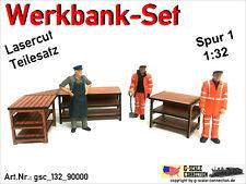 Spur 1 - Werkbank Set für z.B. Märklin 1 - Lasercut - 1:32 - gsc_132_90000