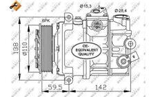 NRF Compresor aire acondicionado 12V Para AUDI A3 VOLKSWAGEN GOLF CADDY 32147