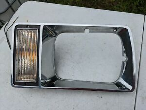 Buick Skylark Left Headlight Bezel Turn Signal Parking Light 81 82 83 84 85 LH