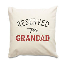 NEW - RESERVED FOR GRANDAD - Quality Cushion Cover - Gift Present Xmas Birthday