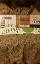 NIP There's always time for coffee repositonable wall decals