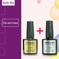 Belle Fille Top Coat Gel Base Coat Primer UV Led Nail Polish Soak Off Manicure