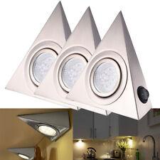 3X Dreieck LED Möbelschrankleuchte Küchenlampe Unterbauleuchte Strahler Warmweiß
