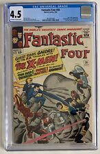 (1964) THE FANTASTIC FOUR #28 1st XMEN x-over! CGC 4.5 OW/WP!