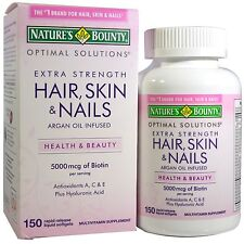 Nature's Bounty, Hair, Skin & Nails, Extra Strength, 150 Liquid Softgels