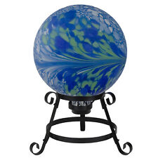 """Northlight 10"""" Blue and Green Marbled Outdoor Patio Garden Gazing Ball"""