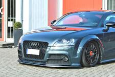 For Audi TTS 8J Front Bumper Lip Cup Skirt Lower spoiler Chin Valance Splitter