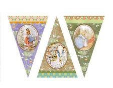 Vintage Look DIY Peter Rabbit Bunting Banner Flags Party Prop -210 gsm cardstock