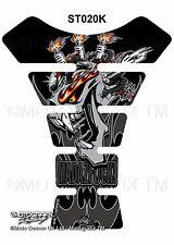 Devil Demon Motorhead Motorcycle Tank Pad Tankpad Motografix 3D Gel Protector