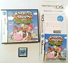 Harvest Moon DS: Island of Happiness (Nintendo DS, 2008) CIB COMPLETE IN BOX
