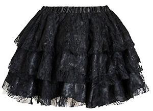 Minirock Corsagen Mini Rock Faltenrock Skirt Spitze schwarz Pettico Wäschebeutel