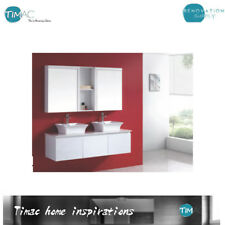 1200mm Wall Hung Bathroom Vanity  DOUBLE BOWL Above Counter Stone Top Vanity