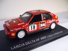 Voitures de rallye miniatures multicolores Lancia 1:43
