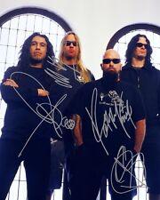 Slayer Group Signed 8X10 Photo Rp Jeff Hanneman Kerry King Tom Araya Bostaph