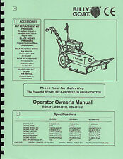 Billy Goat Outback bc2401,bc2401h,bc2401he Operator Owner's Manual