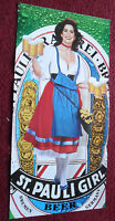 1990 Print Ad St Pauli Beer ~ Sexy Girl 3 Page Pretty Girl Gate-Fold Pinup