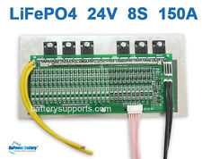 24V 25.6V 150A LiFePo4 Battery BMS LFP PCM SMT System 8S 3.2V eBike Battery 8x3V