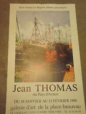 AFFICHE ORIGINALE exposition jean thomas au pays d'armor 1988  AF23