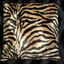 Brown Zebra Print Pillow Cover Faux Fur Pillow 16x16 (set of 2)