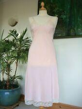 "Beautiful Original Vintage 1940's Silky Pale Pink Slip Size 34"""