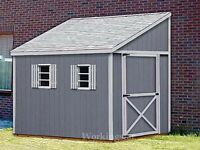 6' x 12' Slant / Lean To Style Shed Plans / Building Blueprints & Guides # E0612