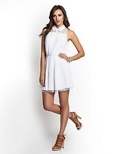 GUESS  PLEATED   SHIRT   WHITE  DRESS   SIZE  M