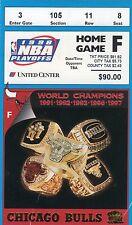 1998 MICHAEL JORDAN WORLD CHAMPION CHICAGO BULLS PLAYOFF TICKET STUB SEMIFINALS