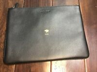 Coach 68039 large pebble Leather pouch Chinese new year / Year Of The Pig black