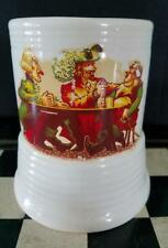 """Beer Stain Porcelain with Music Box Di Alpen Vintage It plays """"How dry I am"""""""