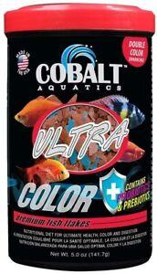 5oz Cobalt Ultra Color Premium Fish Flake, FREE 12-Type Pellet Mix Included