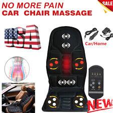 8 Mode Massage Car Seat Cushion Back Relief Chair Pad Heated Lumbar Massager USA