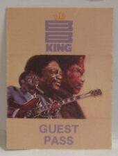B.B. KING - VINTAGE ORIGINAL CONCERT TOUR CLOTH BACKSTAGE PASS ***LAST ONE***