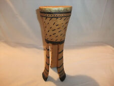 afrikanische Dekoration Deko Souvenier Musikinstrument Handarbeit Unikat Trommel