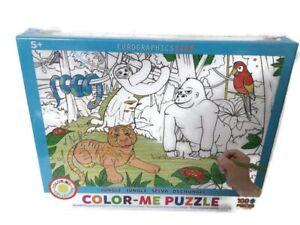 EuroGraphics Jungle Color Me Jigsaw Puzzle (100-Piece) Age 5+ NEW