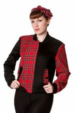 Waist Length Cotton Checked Casual Coats & Jackets for Women