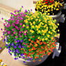 8 Pcs Set Artificial Flowers Bundle UV Resistant Green Plants Outdoor Decoration