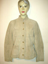 BANANA REPUBLIC WOMENS SMALL TAN SUEDE JACKET COAT GENIUNE LEATHER LINED