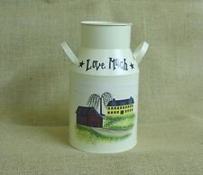 Love Much -Decorative Cream Colored Metal Canister - CQN-LOV