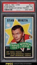 1968 O-Pee-Chee Hockey Stan Mikita HART ROSS BYNG TROPHY #211 PSA 8 NM-MT