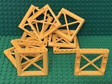 Lego X10 Pieces New Yellow Support 1x6x5 Girder Rectangular Parts Lot