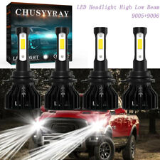 for 1999-2005 GMC Sierra 1500 2500HD White LED Headlight High/Low Beam Bulbs 4pc